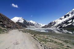 Leh Manali Highway. Though the high mountains, Ladakh, Jammu and Kashmir, India Stock Photo
