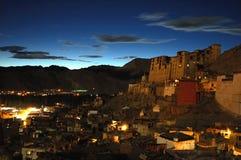 Leh by night. Ladakh, India Royalty Free Stock Photo