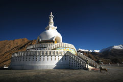 Leh Pagoda. The white Leh Pagoda in Leh Royalty Free Stock Photos