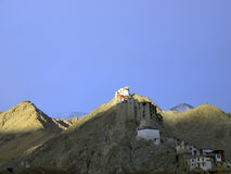 Leh Palace on the hill Royalty Free Stock Photos