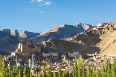 Leh Palace, Ladakh, India. Leh Palace and a view of the village in Ladakh, India royalty free stock photography