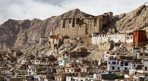 Leh Palace - Ladakh - Jammu and Kashmir Royalty Free Stock Photo