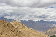 Leh palace and mountain landscape Royalty Free Stock Photo