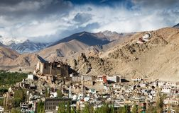 Leh Palace - Namgyal Tsemo Gompa Royalty Free Stock Photography
