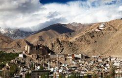 Leh Palace - Namgyal Tsemo Gompa - Leh - Ladakh Royalty Free Stock Photos