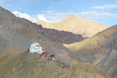Leh palace. Ladakh,India. Leh palace on the top of mountain. Ladakh,India Stock Photography