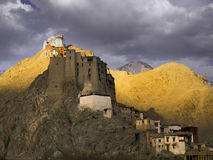 Leh palace in twilight Royalty Free Stock Photo