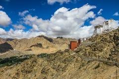 Leh Royal Palace et temple-Ladakh bouddhiste, Inde photos stock
