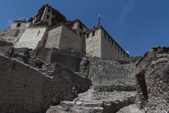 Leh slott i Ladakh, Indien, Asien Arkivfoton