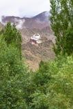 Leh slott Ladakh Indien Arkivbild
