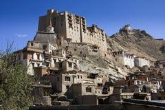 Leh stadsslott, Ladakh, Indien Royaltyfri Bild