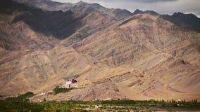 Leh temple mountain timelapse Royalty Free Stock Image