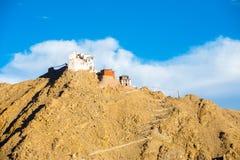 Leh Tsemo Fort Gompa Telephoto Mountaintop Ladakh Stock Photography