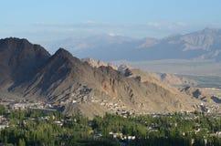 Lehdorp, Ladakh, Noordelijk India Stock Foto