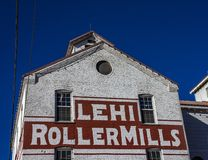 Iconic Flour Mills in USA Lehi Roller Mills royalty free stock photography