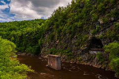 The Lehigh River Gorge, in the Pocono Mountains of Pennsylvania. Stock Images