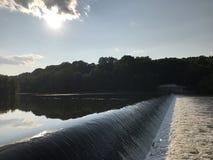 Lehigh rzeka w Wschodnim Pennsylwania zdjęcia royalty free