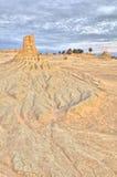 Lehm-Berggipfel- und -abnutzungmuster in der Mungo-Nation Lizenzfreie Stockfotografie