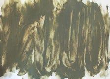 Lehm Brushstroke auf weißem Hintergrund Lizenzfreie Stockfotografie