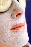 Lehm-Gesichtsmaske lizenzfreie stockbilder