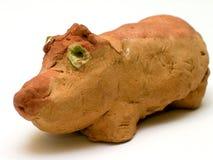 Lehm Hippopotamus Lizenzfreies Stockbild