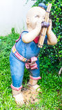 Lehm thailändischer Kinderspiel Khene-Musik Stockfotografie