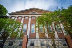 Lehman Hall, at Harvard University, in Cambridge, Massachusetts. Stock Photography