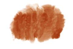 Lehmbraun-Aquarellfleck des Töpfer-s lokalisiert auf weißem Hintergrund Lizenzfreies Stockfoto