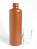 Lehmflasche lizenzfreie stockfotografie