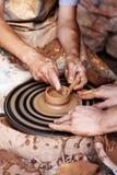 Lehmformung Stockbild