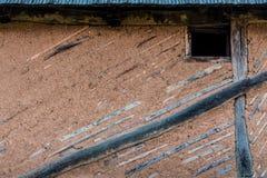 Lehmziegelmauer Stockbild
