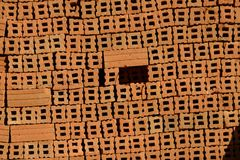 Lehmziegelsteine in Birma Stockfotografie