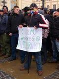 Lehnen Sie ACTA, Lublin, Polen ab Lizenzfreie Stockbilder
