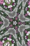 Lehnender Kaleidoskop-Stern Stockfotografie