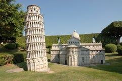 Lehnender Kontrollturm das Fenster der Welt parken stockfoto