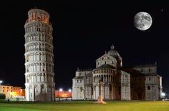 Lehnender Kontrollturm, Pisa Stockfotos