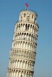 Lehnender Kontrollturm von Pisa stockbild