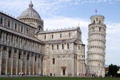 Lehnender Kontrollturm von Pisa Stockfotografie