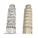 Lehnender Kontrollturm von Pisa Lizenzfreie Stockbilder