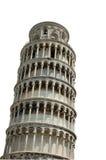 Lehnender Kontrollturm von Pisa - getrennt Lizenzfreies Stockbild