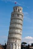 Lehnender Kontrollturm von Pisa, Italien Stockbild
