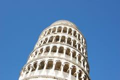 Lehnender Kontrollturm von Pisa in Italien Lizenzfreie Stockfotos