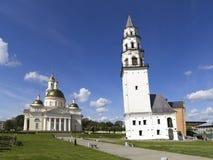 Lehnender Turm Nevyansk Stockfoto