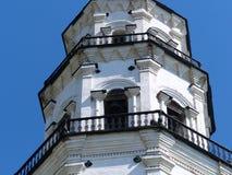 Lehnender Turm Nevyansk wurde im Jahre 1732 errichtet Dieses ist die berühmteste Architekturstruktur in den mittleren Urals Lizenzfreie Stockbilder