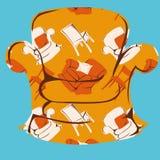 Lehnsessel mit einem nahtlosen Muster stock abbildung