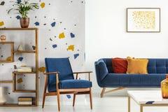 Blaues Und Orange Wohnzimmer Stock Abbildung - Illustration von ...