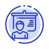 Lehrer, Ausbildung, Darstellung, Linie Ikone der Schulblauen punktierten Linie lizenzfreie abbildung