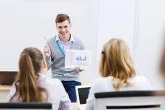 Lehrer an der Lektion Lizenzfreie Stockfotografie