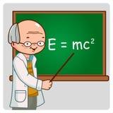 Lehrer für Wissenschaft auf Tafel Lizenzfreie Stockfotografie