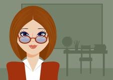 Lehrer mit Gläsern Lizenzfreies Stockbild